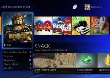 Nowy profil gracza i menu w PlayStation 4