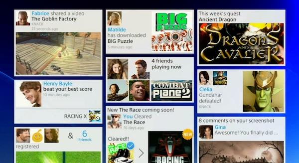 PlayStation 4 menu dashboard
