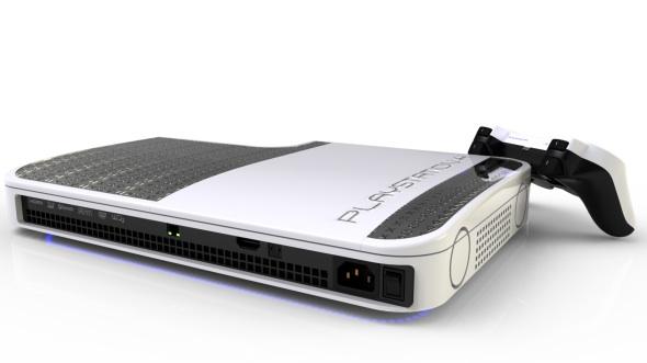 PlayStation 4 white back