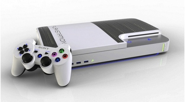PlayStation 4 white front