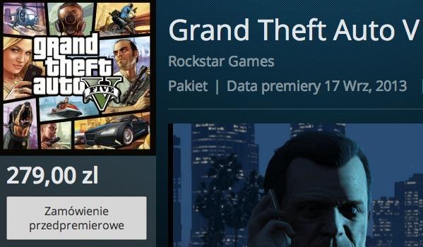 GTA V pre-order PS3